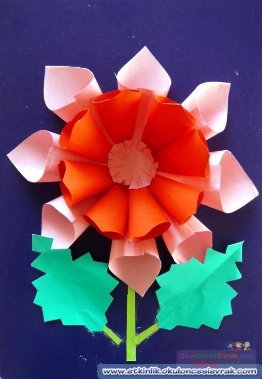 Аппликация цветы из цветной бумаги объёмные картинки
