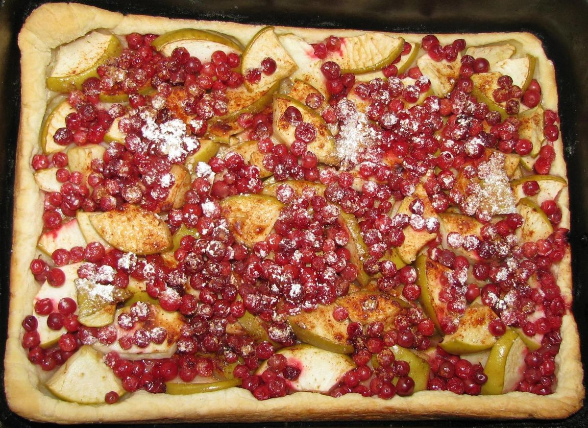 Сахалинский брусничный пирог рецепт с фото