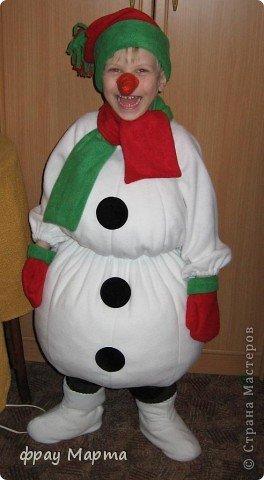 Как сшить костюм снеговика своими руками