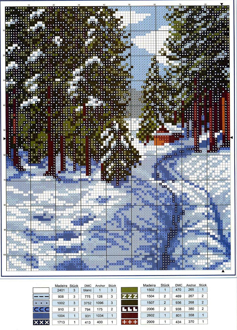 Схемы для вышивок крестом пейзажи 815