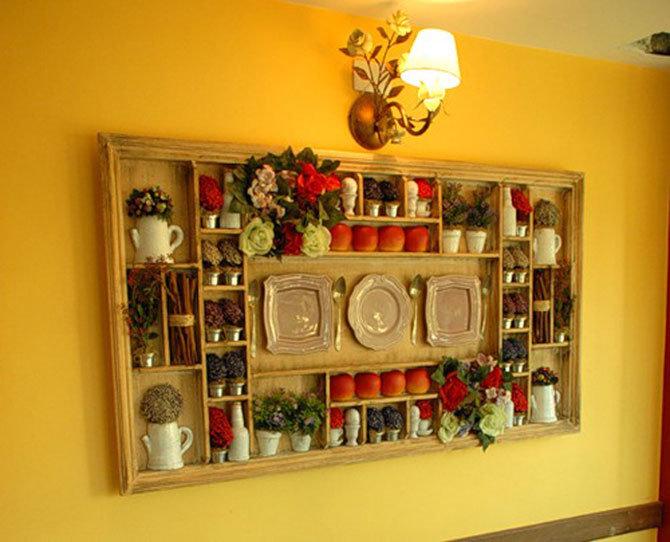 Декор на стены своими руками на кухне 92