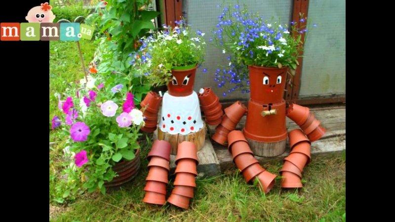 Декор для сада из подручных средств своими руками