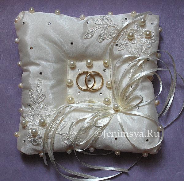 Свадебная подушечка для колец с углублением своими руками 100