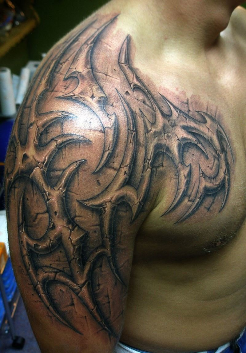 Тату на плечо для мужчин эскизы дракон