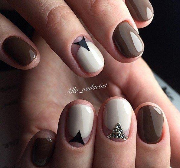 Фото маникюра на очень короткие ногти гель лаком
