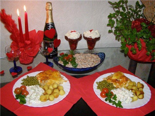 Романтический ужин для любимого в домашних условиях  765