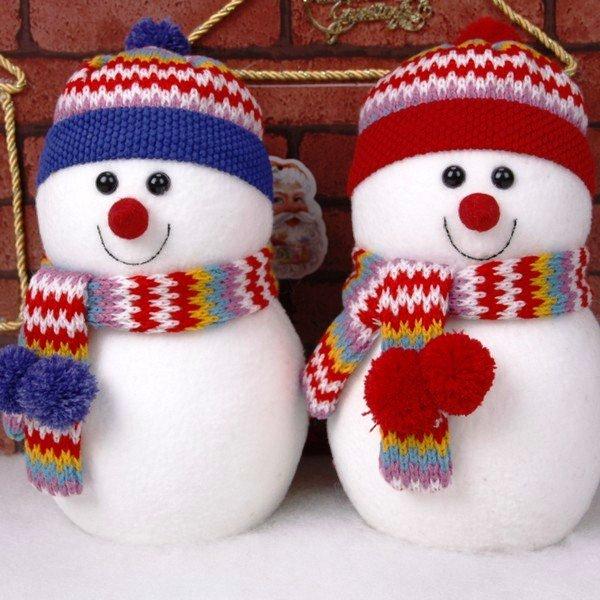 Новогоднее украшение снеговик своими руками