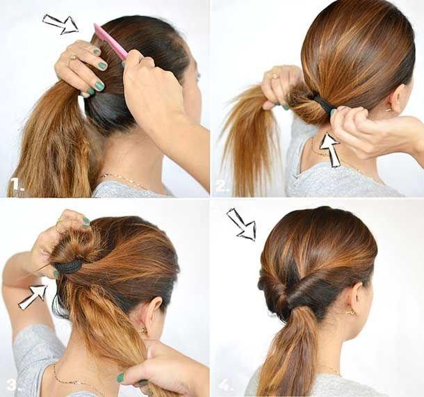 Прически на средние волосы на каждый день своими руками поэтапно быстро