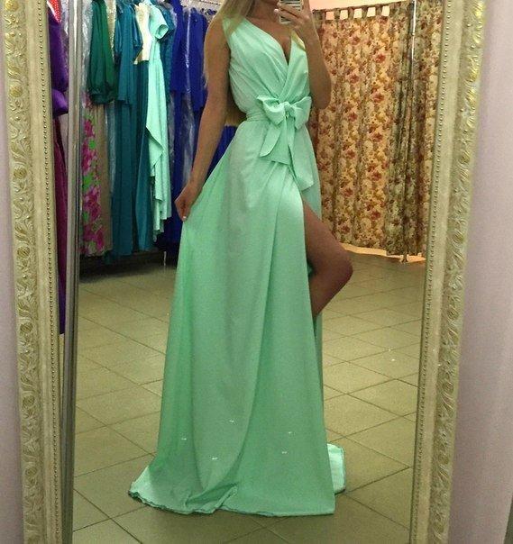 Фото летних вечерних платьев в пол с