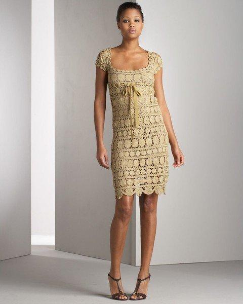 Модели вязаных платьев для женщин
