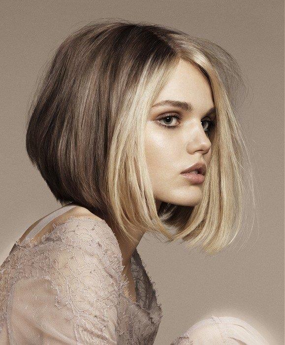 Стрижки на средние волос на не густой волос