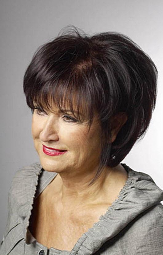 Фото стрижек для женщин 50 лет с круглым лицом