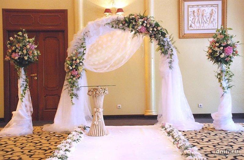 Украшение на арку свадебную