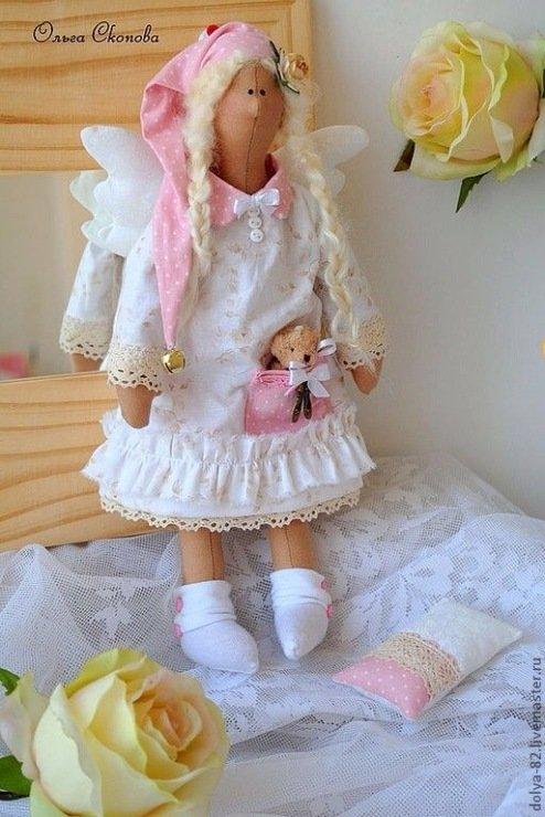 Куклу тильда сонный ангел