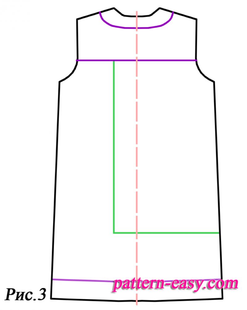 Платье прямого кроя выкройка своими руками 40