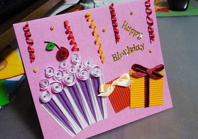 Оригинальные открытки на день рождения подруге своими руками