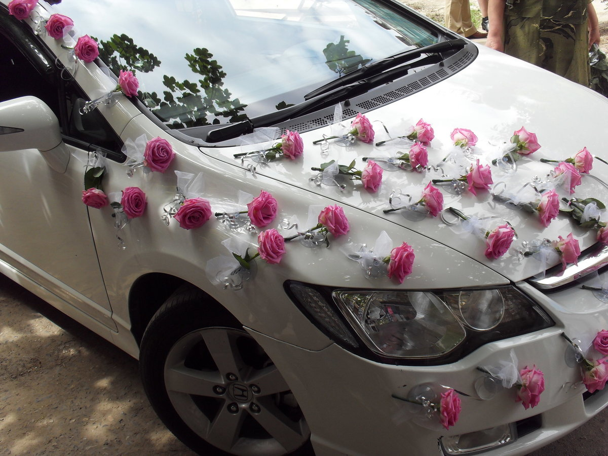 Украшаем машины к свадьбе фото