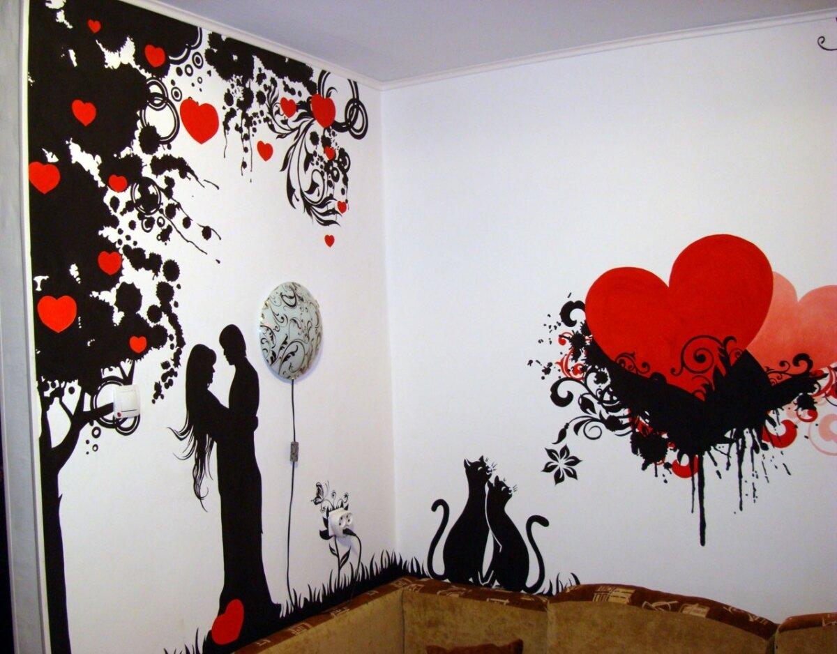 Рисунок на стене своим рук 323