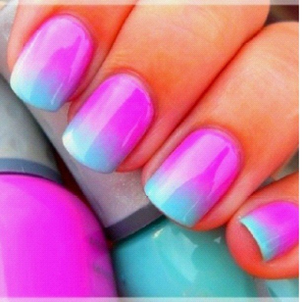 Маникюр в домашних условиях на короткие ногти двумя цветами