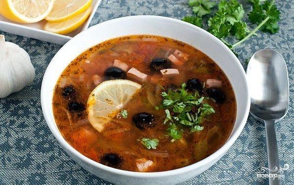 Как готовить суп солянку с фото пошагово
