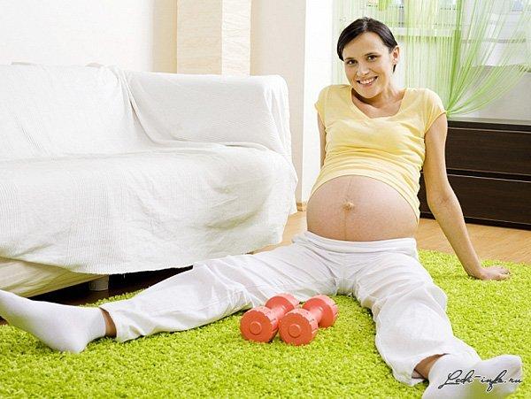 Упражнение для беременных чтобы легче родить 8