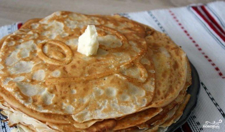 Рецепт тонких блинчиков на кислом молоке с пошагово