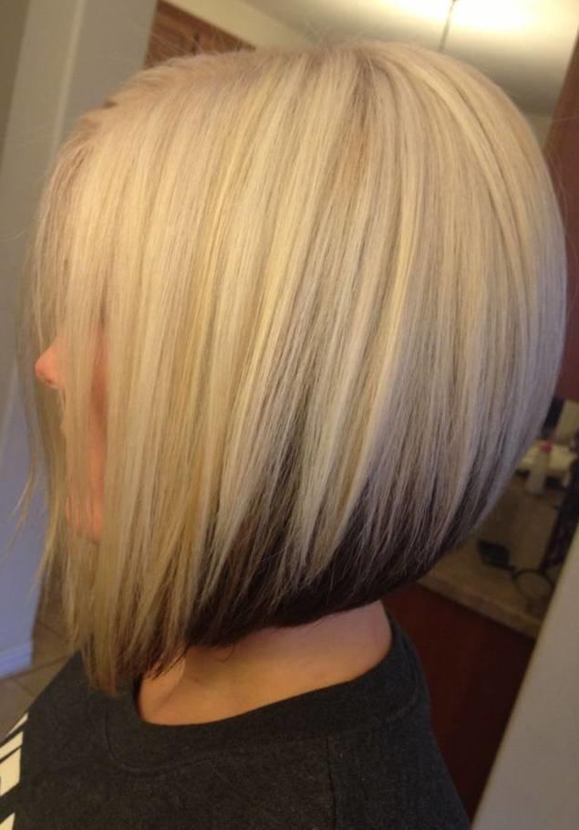 Фото покрашенных волос двумя цветами