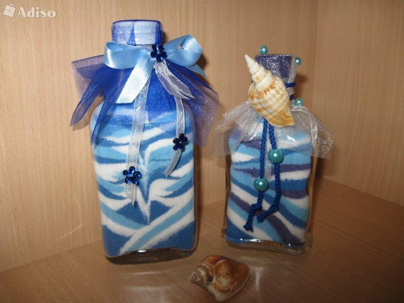 Декоративные бутылки с солью своими руками