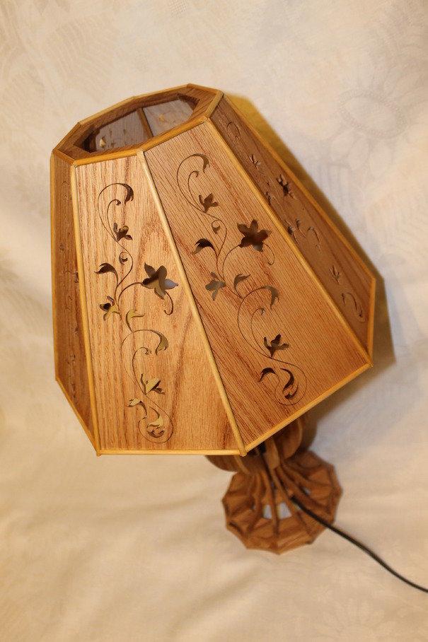 Настольные светильник из дерева своими руками