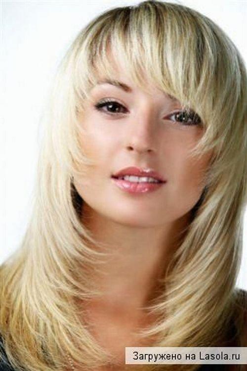 Причёска каскад фото на короткие волосы с косой челкой