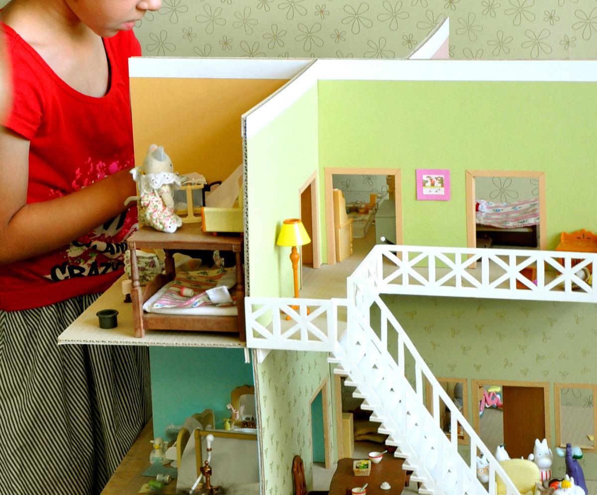 Кукольный домик своими руками - 66 фото создания игрушечного 12