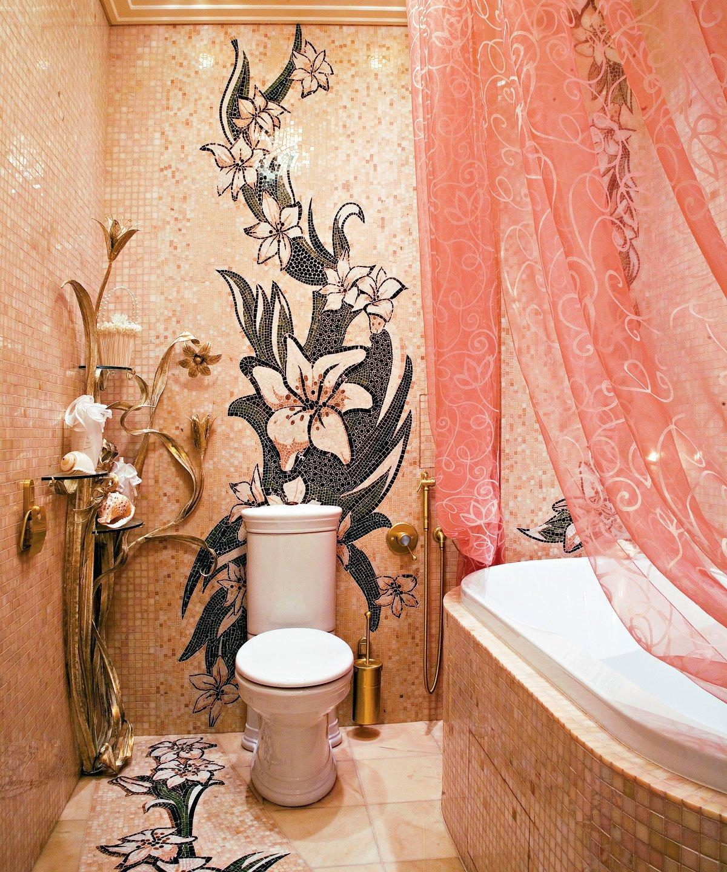 Как расписать стены в туалете своими руками 5