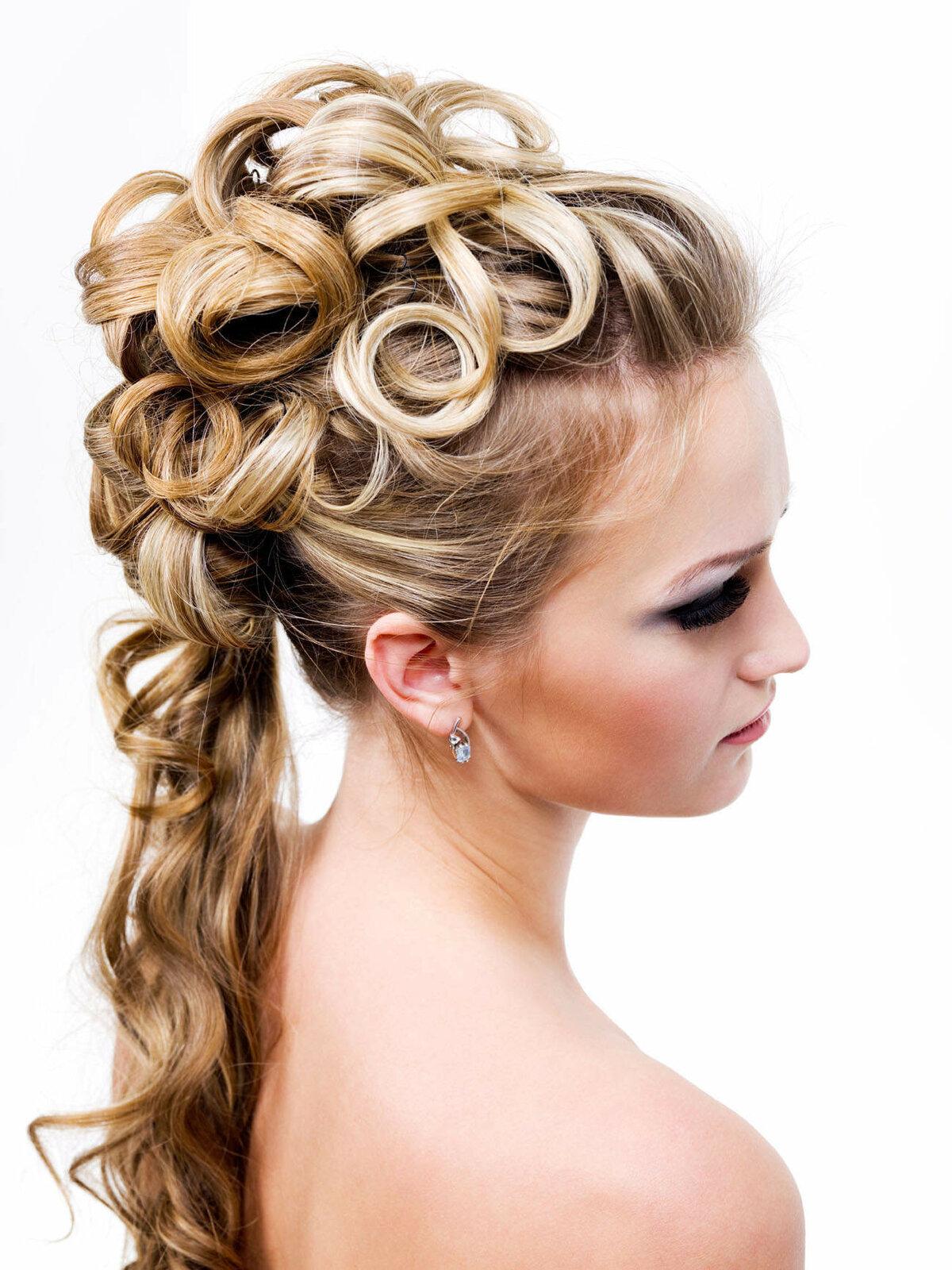 Женская прическа на торжество из длинных волос фото
