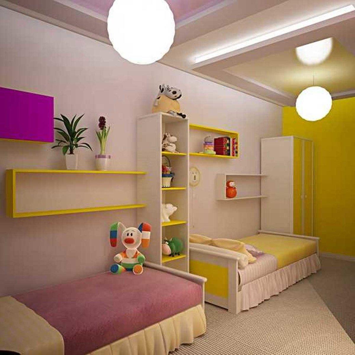 Комната для 2 детей дизайн фото