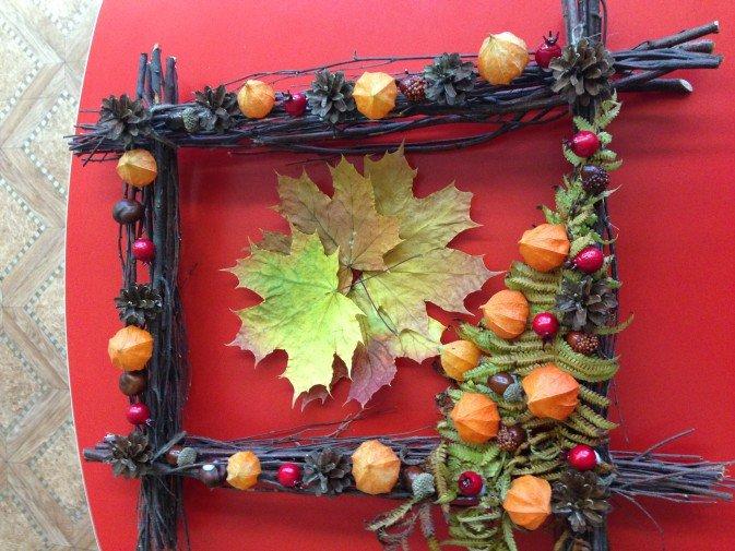 Рамка своими руками тема осень