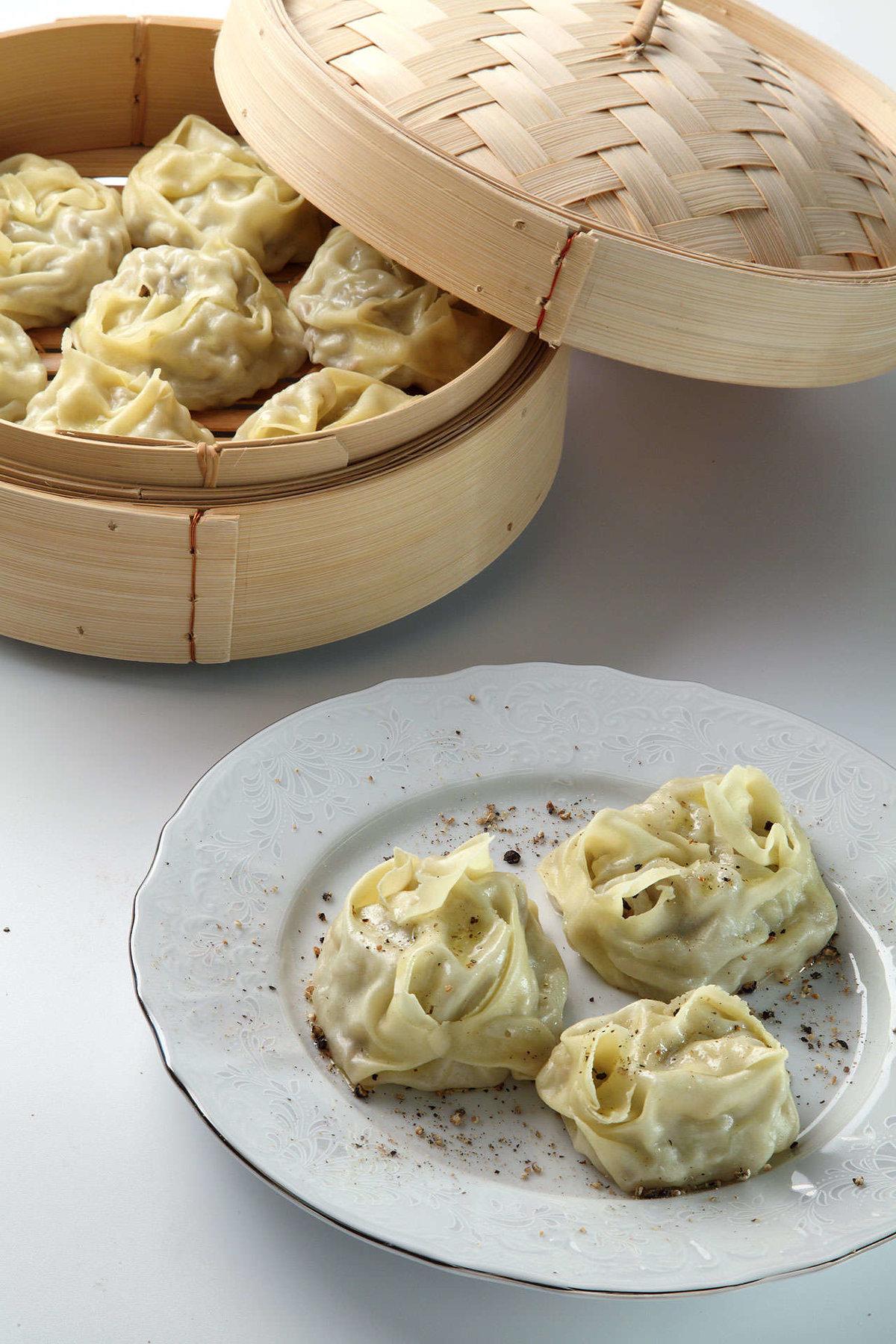 Манты с картошкой грибами пошаговый рецепт