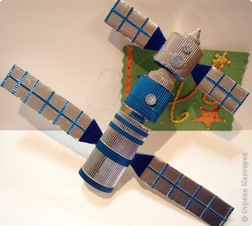 Как сделать из картона спутник