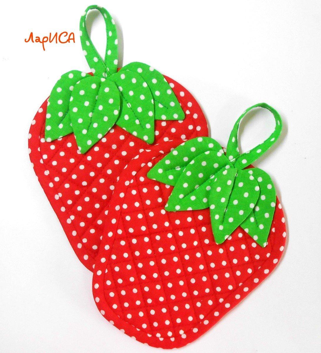 Прихватка ягодка своими руками