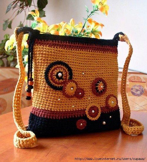 Вязание крючком сумочки своими руками