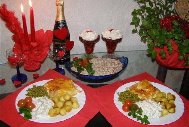 Романтический ужин для жены приготовить