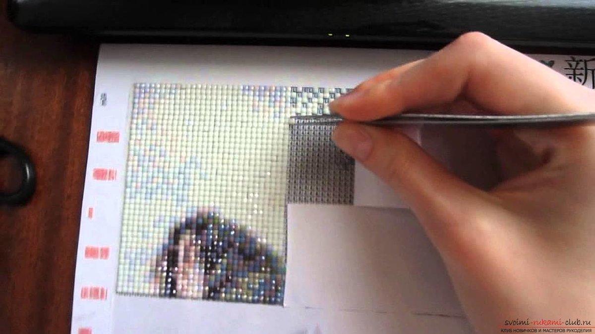 Как правильно наклеивать алмазную вышивку
