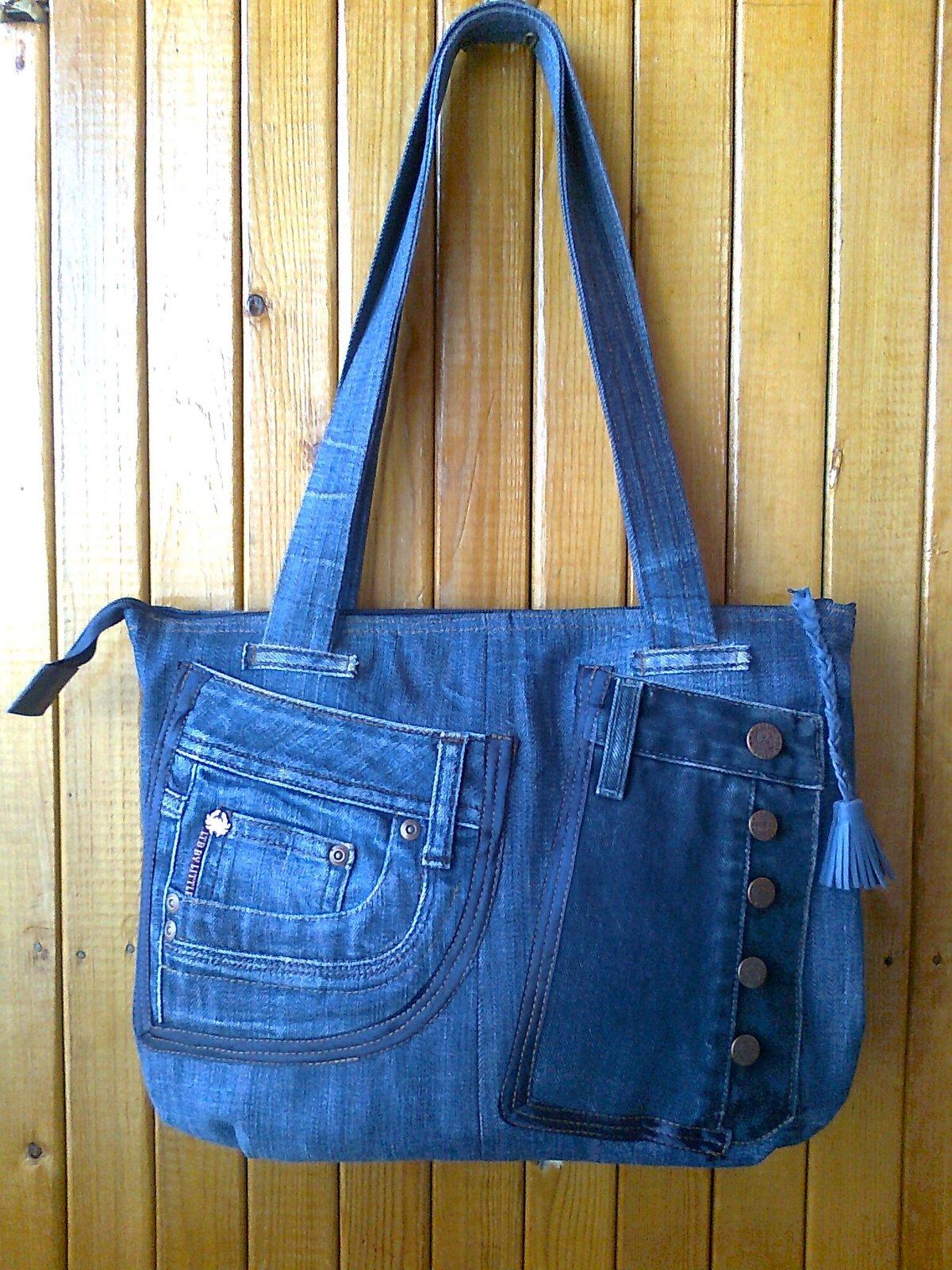 Маленькая джинсовая сумка своими руками 472