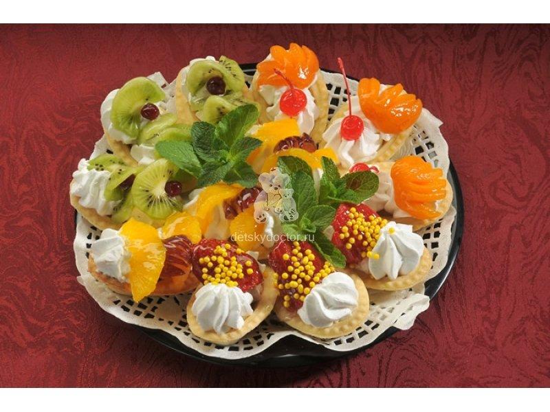 Рецепт салата в тарталетках из фруктов