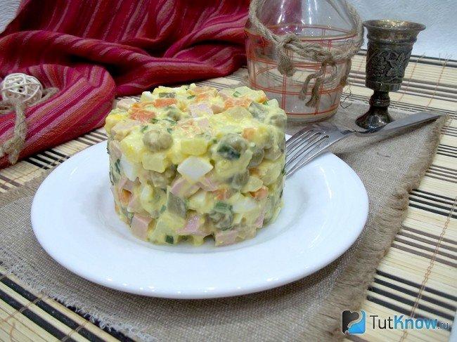Оливье с яблоком рецепт классический пошаговый рецепт