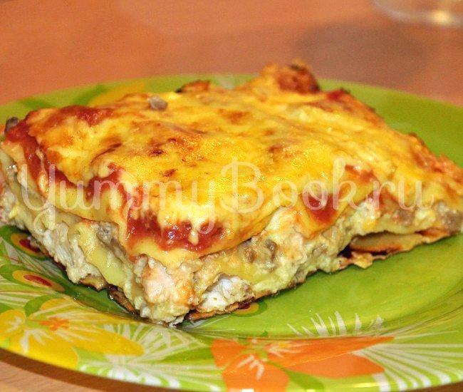 Лазанья с курицей и грибами рецепт с пошаговый