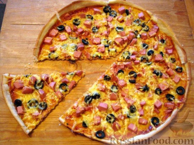 Пицца с грибами рецепт в домашних условиях с колбасой и сыром в духовке