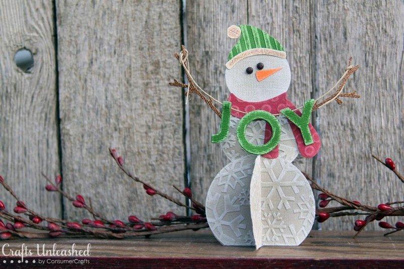 Как сделать снеговика из картона и