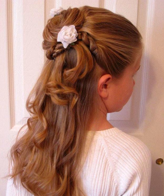 Красивые причёски для девочек на выпускной