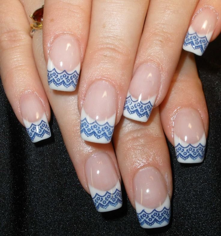 Фото дизайна ногтей френч зима