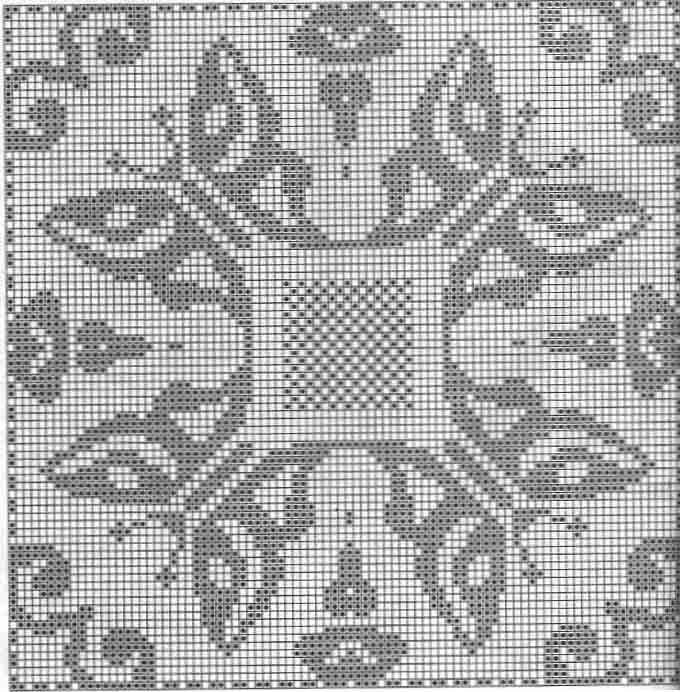 Фото схем филейного вязания 203
